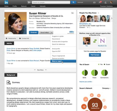 Linkedin block user feature what it means