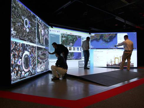 Raytheon engineers and customers collaborate on products in a 3D space.