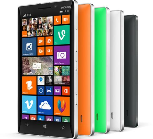 Nokia's latest Lumia smartphones come in a range of colors.