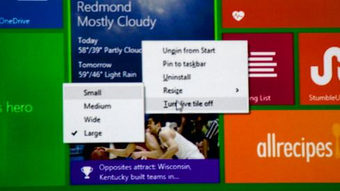 The Modern UI will soon include right-click context menus.