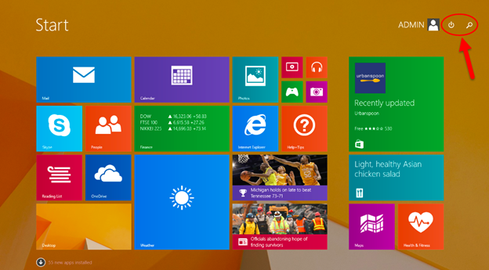 The Windows 8.1 update's new features includes more apparent search and power tools. (Source: Microsoft)
