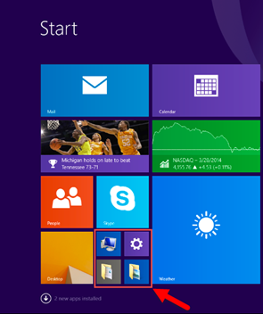 Windows 8.1 now makes many commonly used settings and locations available from the Start screen. (Source: Microsoft)