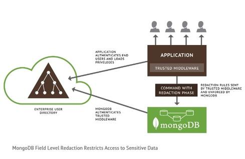 Field-level redaction is among a battery of security features introduced in MongoDB 2.6.
