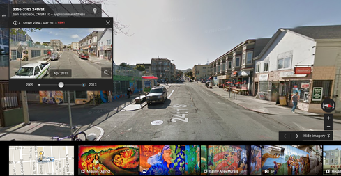 Google Street View Offers Time Travel