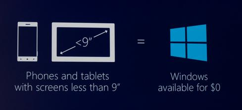 Free Windows licenses factor into Nadella's plan to make Windows 'ubiquitous.'