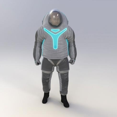Merging past and future The 'technology' spacesuit design for Z-2 combines elements from past spacesuits and advanced technologies, such as electroluminescent wire and light-emitting patches across the upper and lower torso to identify crew members. The design also features collapsing pleats for mobility and abrasion-resistant panels on the lower torso.  (Image: NASA)