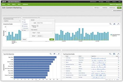 Designer improvements in Splunk Enterprise 6.1 make it easier to deliver advanced dashboards without coding.
