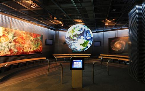 NOAA researchers developed Science On a Sphere as an educational tool and later transferred the technology for public use.