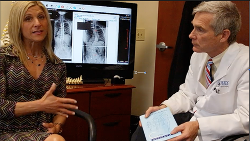 Dr. Lloyd Hey designed his own EHR software. Here he chats with Marcia Delbarone, author of Curved Inspirations, about families facing the life-long effects of scoliosis. (Source: The Hey Clinic.)