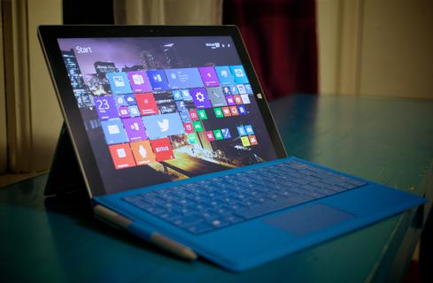 The Surface Pro 3's screen is bright, beautiful, and - unlike earlier Surface displays - big enough for laptop productivity.