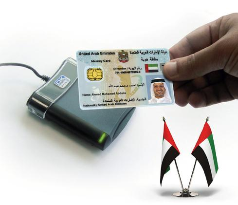 All United Arab Emirates residents must use an encrypted 144-KB smart card to conduct government transactions. (Image: EIDA)