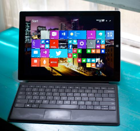 It looks a little silly, but Surface Pro 3 is compatible with earlier Type Covers.