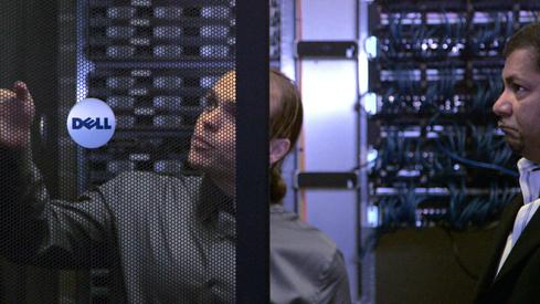Tippett employees work on the company's servers.