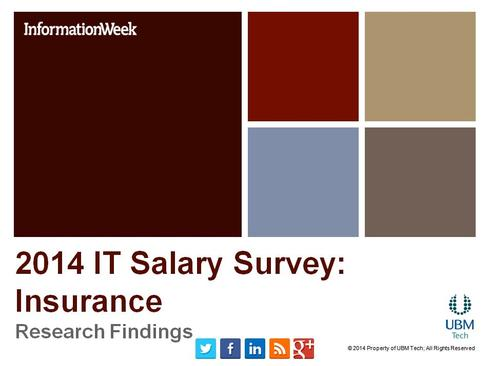 IT Salary Survey 2014: Insurance