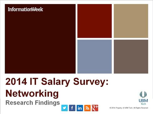 IT Salary Survey 2014: Networking