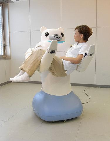 Elder careRiba, a Japanese robot, aims to help with elder care. Japan has one of the largest aging populations in the world, so this is incredibly important. Designed to be nonthreatening in appearance, Riba lifts elderly patients out of bed, so their linens can be changed, among other tasks. As important and difficult a task as this is, I'm still not sure what patients suffering from dementia would think of a six-foot-tall robot bear lifting them out of bed. Riba has gone through several iterations and likely will go through more before being put to heavy use.