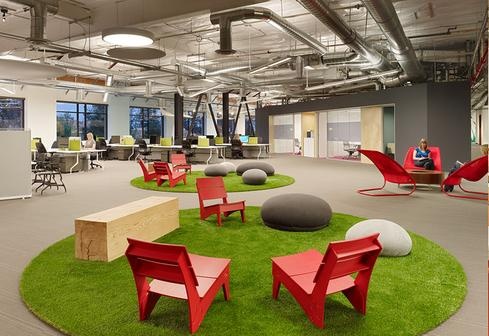 Skype's Palo Alto offices sport more AstroTurf than Tropicana Field.