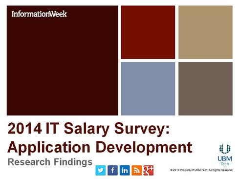 IT Salary Survey 2014: Application Development