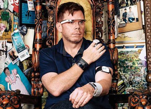 Chris Dancy, the most connected human on Earth. (Source: Benjamin Rasmussen for Bloomberg Businessweek)