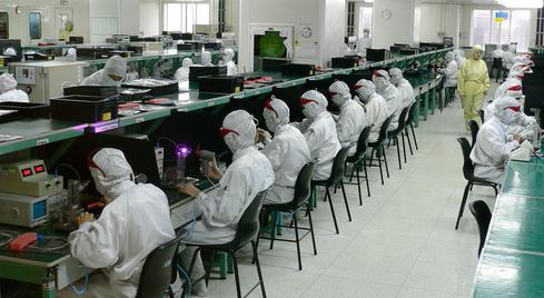 Electronics factory in Shenzhen, China.