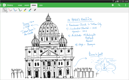 OneNote for Android tablets