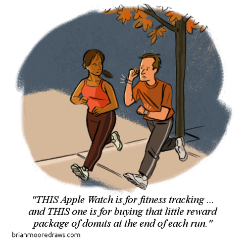 Cartoon: Apple Watch In The Wild
