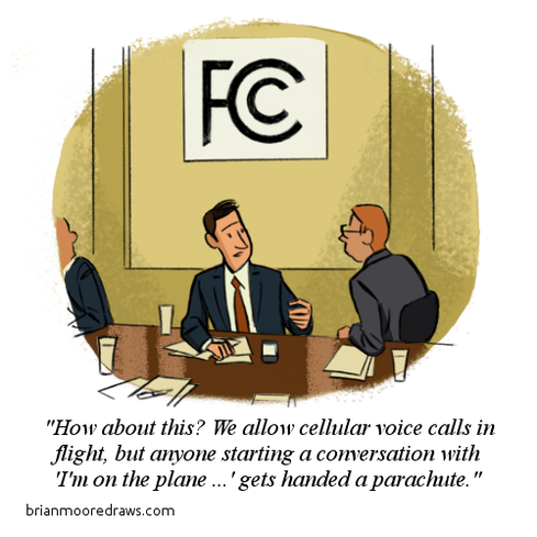 Cartoon: If FCC Allows In-Flight Cellphones