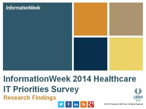 InformationWeek 2014 Healthcare IT Priorities Survey