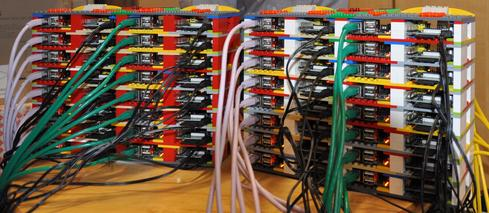 Researchers at the University of Southampton built one of the first Raspberry Pi supercomputers.     (Image: Simon Cox, University of Southampton)
