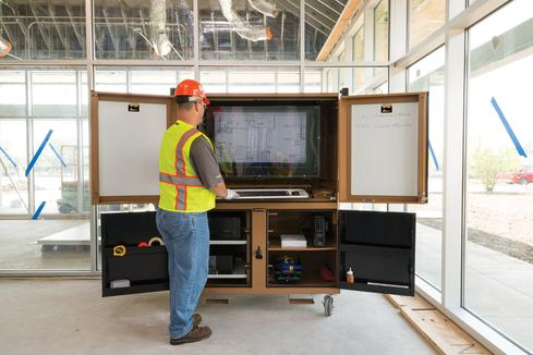 Mobile Devices Replace Blueprints On Construction Sites