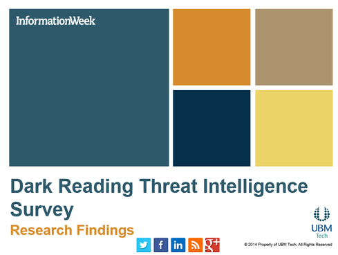 Dark Reading Threat Intelligence Survey