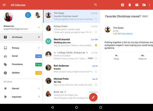 Gmail Android App Connects Yahoo, Microsoft Accounts