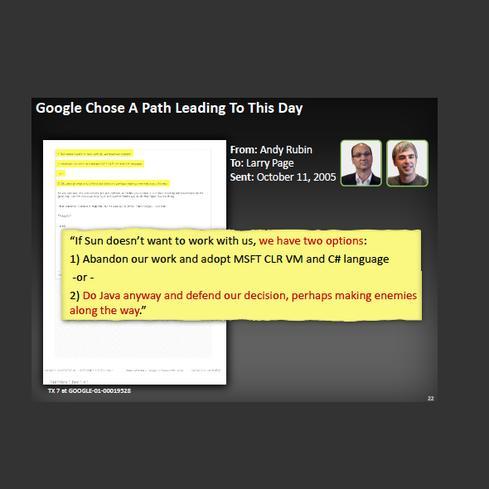 Image: Oracle v. Google evidence