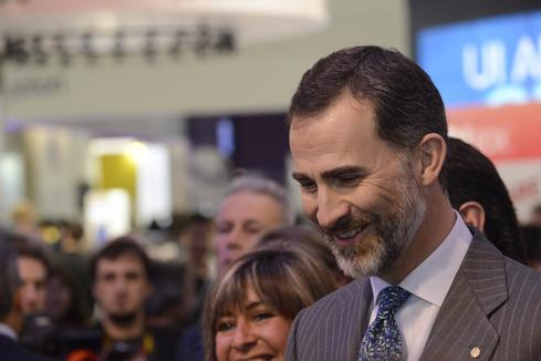 Spain's King Felipe VI at Mobile World Congress 2015. Will he appear this year? (Image: GSMA)