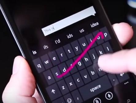 Microsoft's Word Flow keyboard.  (Image: Microsoft)