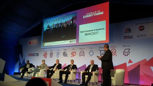 Panel at 'Securing The Internet of Things' session at Mobile World Congress 2016. (Image: Pablo Valerio for InformationWeek)