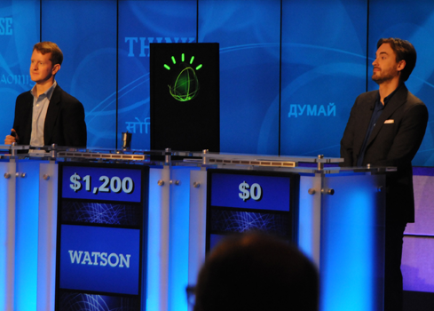 IBM's Watson gained popularity by beating two human contestants in a game of Jeopardy! in 2011
