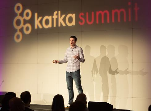 Confluent cofounder and CEO Jay Kreps delivers keynote address at Kafka Summit  (Image: courtesy of Confluent)