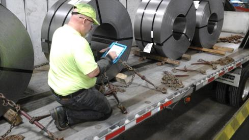 Using the Bill of Lading eSignature app for shipping steel.