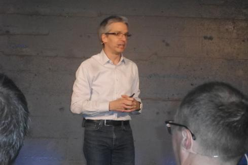 Dirk Didascalou at AWS Loft event June 7. Source: Charles Babcock