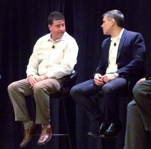 Scott Hebner and Angel Diaz on a panel at IBM Impact 2012.