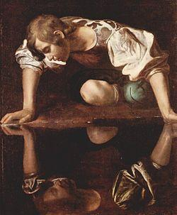 Narcissus by Caravaggio. Source: Public domain via Wikipedia Commons.