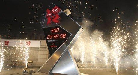 The clock in Trafalgar Square in London displaying a countdown to the opening of the 2012 Summer Olympics. Photo: Wikimedia Commons.