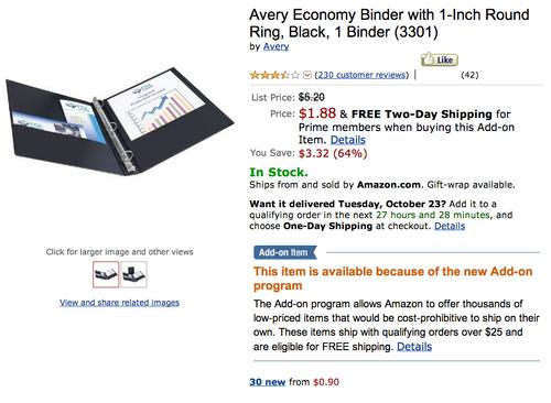 An Amazon.com product listing for binders became a repository for political jokes.