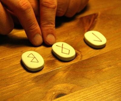 Runes for fortune-telling.  Photo: Nick Fraser