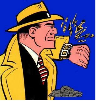 Chester Gould set the bar high when he drew Dick Tracy and his high-tech wristwatch. (Source: Wikipedia)