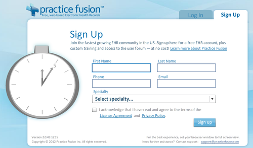 Practice Fusion gives healthcare providers a no-cost way to use EHRs. (Source: Practice Fusion)
