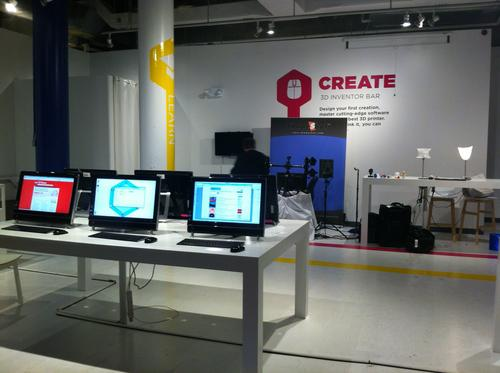 During the holidays, at least one pop-up 3D printing store set up shop in Manhattan.(Source: David Strom)