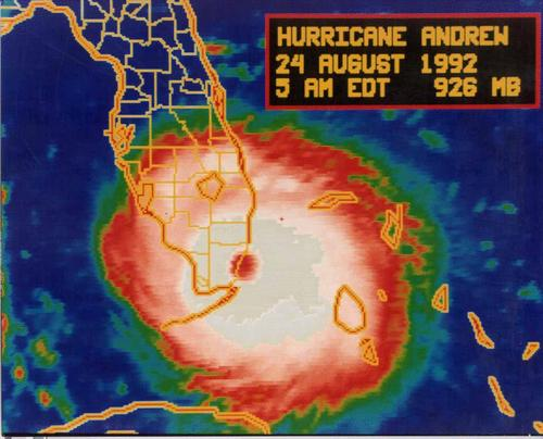A storm hits Dade County, Florida