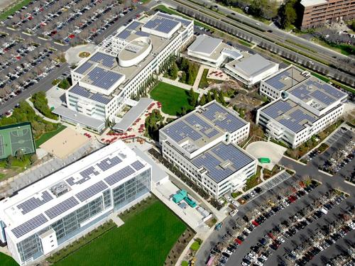 Solar power is in use at eBay's headquarters and a Utah datacenter.  (Source: eBay/SolarCity)